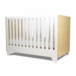 Spot On Square Hiya Crib, White/Bamboo