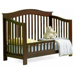 Atlantic Furniture Eco-Friendly Windsor Convertible Crib, Antique Walnut