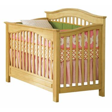 Atlantic Furniture Eco-Friendly Windsor Convertible Crib, Natural Maple