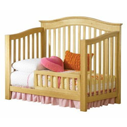 Atlantic Furniture Eco-Friendly Windsor Convertible Crib, Natural Maple