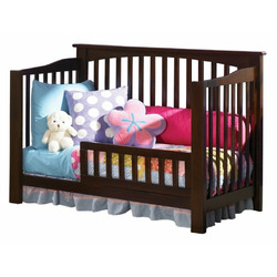 Atlantic Furniture Eco-Friendly Columbia Convertible Crib, Antique Walnut