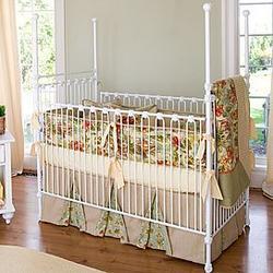 Four-Poster Iron Crib in White