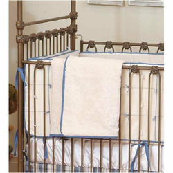 Four-Poster Iron Crib in Gold