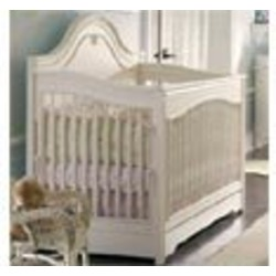 Ma Marie Antique White Convertible Crib