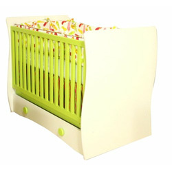 Berg Wave Crib White/Lime