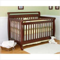 Nursery Smart 626-002-0104C Amelia 4-in-1 Convertible Crib in Cherry