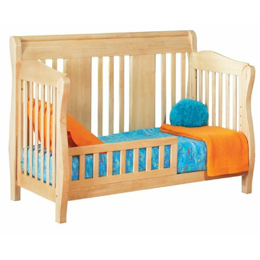 Atlantic Furniture Eco-Friendly Versailles Convertible Crib, Natural Maple
