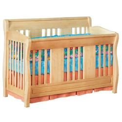 Atlantic Furniture Eco-Friendly Versailles Convertible Crib, Natural Maple