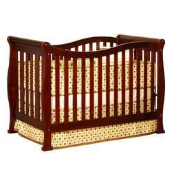 Athena Nadia 3-in-1 Convertible Wood Crib (Cherry)