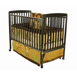 Dream On Me Bethany 2 in 1 Convertible Stationary Side Crib, Black