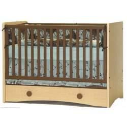 Berg Oslo Crib Natural Maple/Chocolate