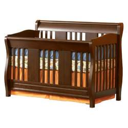 Atlantic Furniture Eco-Friendly Versailles Convertible Crib, Antique Walnut