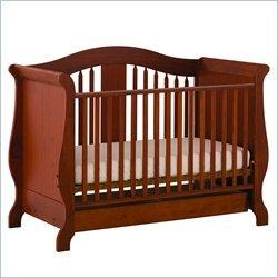 Stork Craft Aspen Stages Standard Wood Crib in Cognac