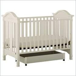 Stork Craft Angelina 3-in-1 Convertible Wood Crib in White