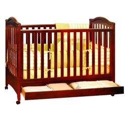 Athena Jeanie Baby Crib with Drawer (Without Drop Side Function) (Cherry)