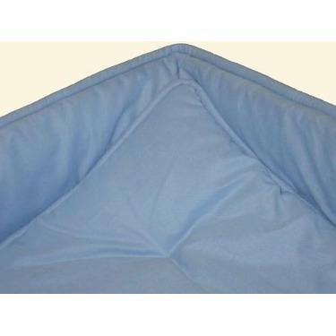 Portable / mini crib set - Solid Baby Blue Portable / Mini Crib Set - Made In USA