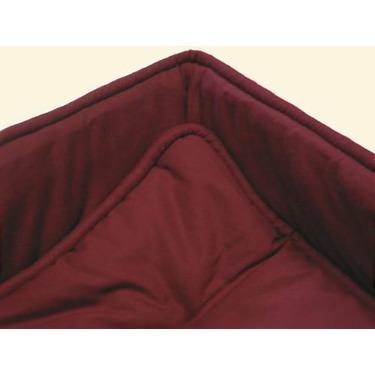 Portable / mini crib set - Solid Burgundy Portable / Mini Crib Set - Made In USA
