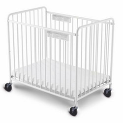 Foundations 8001-3F-CW Chelsea Steel Non-Folding Crib - White