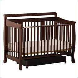Stork Craft Heather Stages Espresso Fixed Side Baby Crib