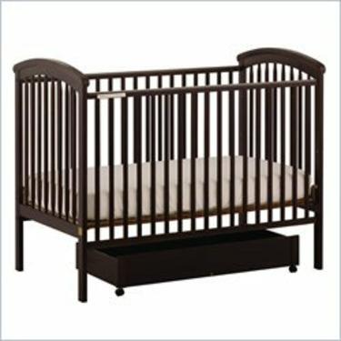 Stork Craft Charlotte 4-in-1 Espresso Fixed Side Baby Crib