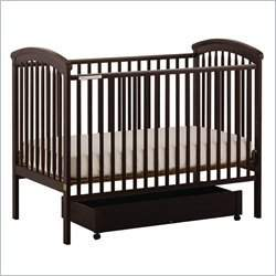 Stork Craft Charlotte 4-in-1 Espresso Fixed Side Baby Crib