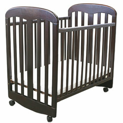 L A Baby Wooden Rocking Port-A-Crib, Cherry