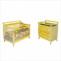 Dream On Me CRIBSETNAT Liberty 4-in-1 Convertible Crib Nursery Set in Natural