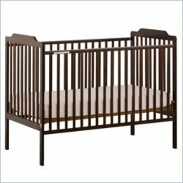Stork Craft Lauren Espresso Fixed Side Baby Crib