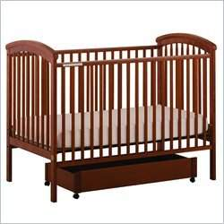Stork Craft Charlotte 4-in-1 Cognac Fixed Side Baby Crib