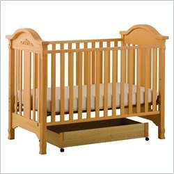 Stork Craft Angelina 3-in-1 Convertible Wood Crib in Natural