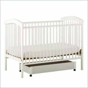 Stork Craft Charlotte 4-in-1 White Fixed Side Baby Crib