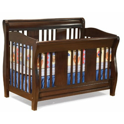 Convertible Crib - Versailles Collection Antique Walnut Finish