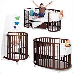 Stokke Sleepi Complete Bassinet, Crib and Junior Bed Set in Walnut