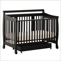 Stork Craft Heather Stages Black Fixed Side Baby Crib