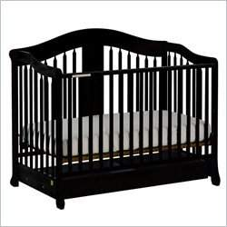 Stork Craft Rochester Stages Black Fixed Side Baby Crib