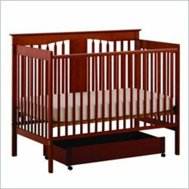 Stork Craft Lily 4-in-1 Stages Cognac Fixed Side Baby Crib