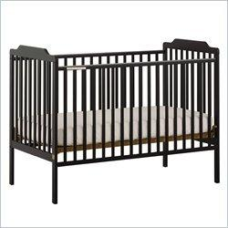 Stork Craft Lauren Black Fixed Side Baby Crib