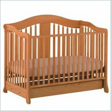 Stork Craft Rochester Stages Standard Wood Crib in Natural