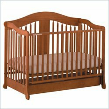 Stork Craft Rochester Stages Standard Wood Crib in Oak