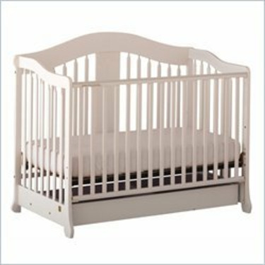 Stork Craft Rochester Stages Standard Wood Crib in White