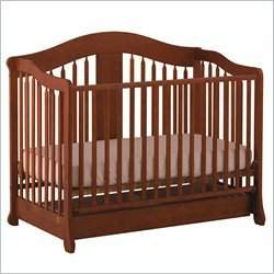 Stork Craft Rochester Stages Standard Wood Crib in Cognac