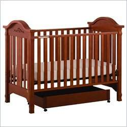 Stork Craft Angelina 3-in-1 Convertible Wood Crib in Cognac