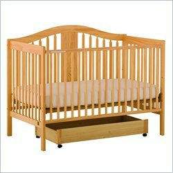 Stork Craft Chelsea 4-in-1 Stages Convertible Wood Crib in Natural