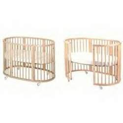 Stokke Sleepi Crib & Junior System II - Walnut (Includes: 2 Mattresses)