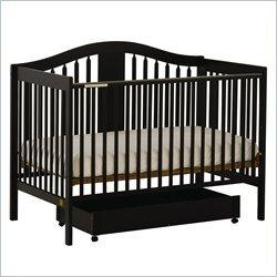 Stork Craft Chelsea 4-in-1 Stages Black Wood Baby Crib