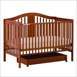 Stork Craft Chelsea 4-in-1 Stages Convertible Wood Crib in Cognac