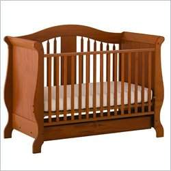 Stork Craft Aspen Stages Standard Wood Crib in Oak