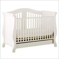 Stork Craft Aspen Stages Standard Wood Crib in White
