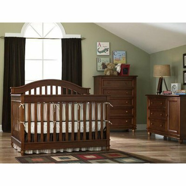 Europa Baby Palisades 4 in 1 Convertible Crib Collection - Natural Cherry (Crib + Combo Unit) - LJO060-2