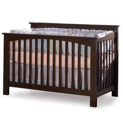 Convertible Crib - Columbia Collection Antique Walnut Finish